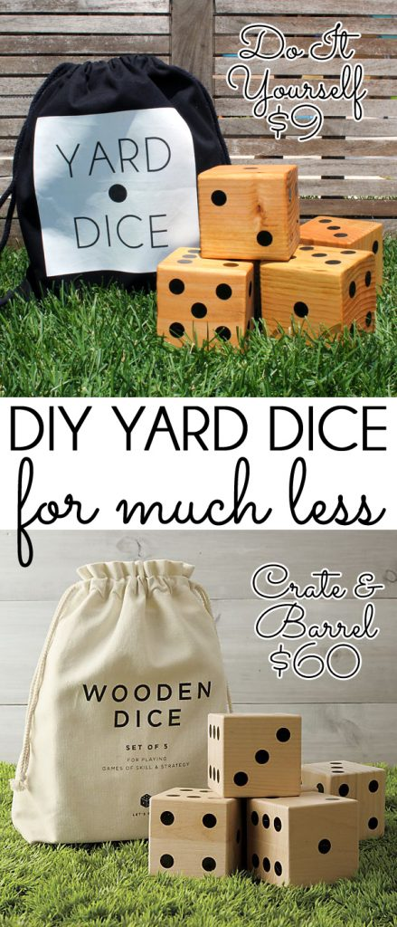 DIY yard dice for less than Crate & Barrel