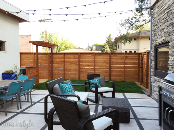 New fence and level backyard