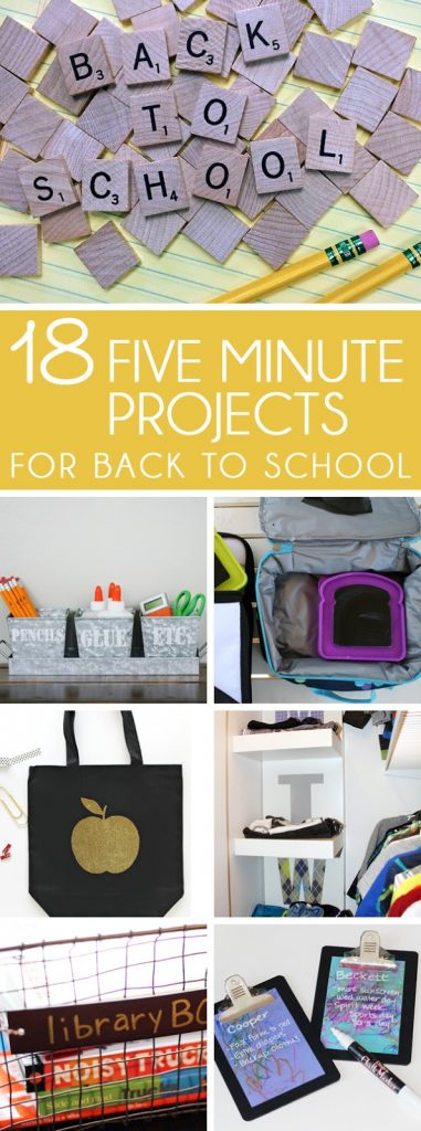 5 minute back to school DIY projects