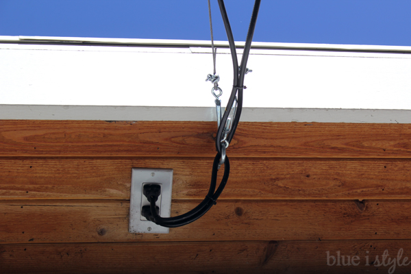 Electric Outlet in Garage Eaves