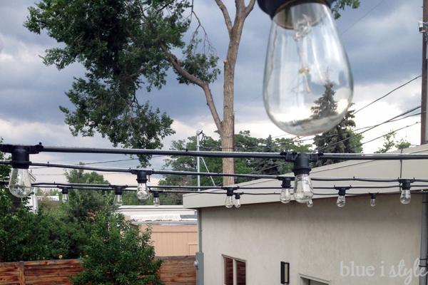 How To Hang Patio String Lights Blue I Style