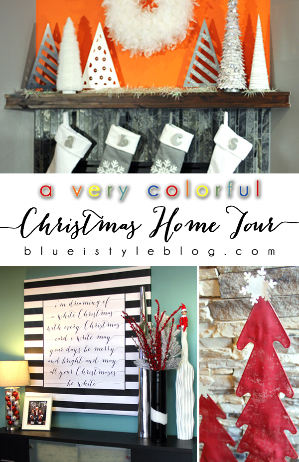 Colorful Christmas Home Tour