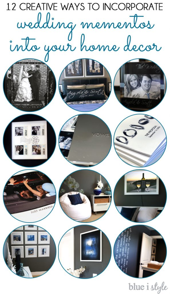 Decorate your home with wedding and honeymoon mementos