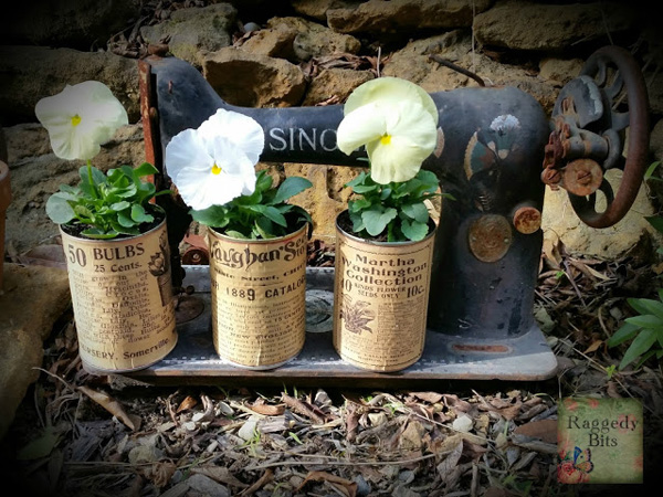 Vintage Seed Packet printables on cans