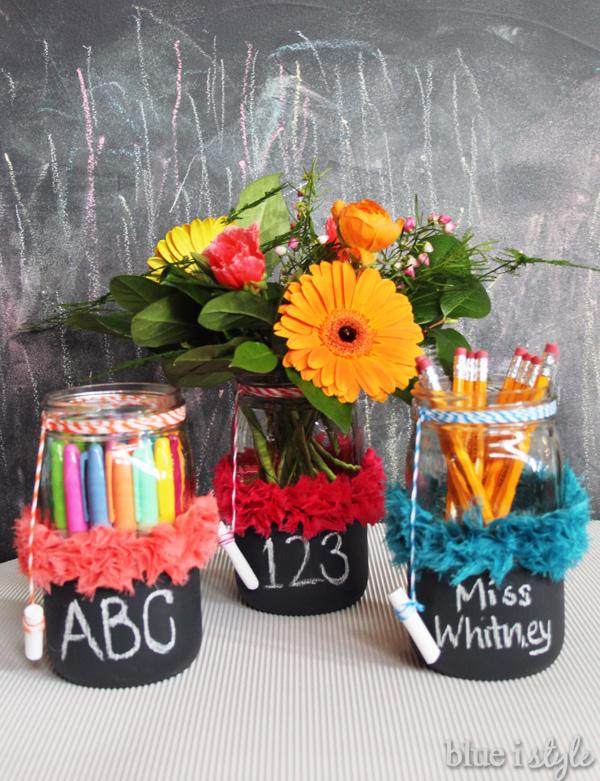 Chalkboard Mason Jars for Back to School