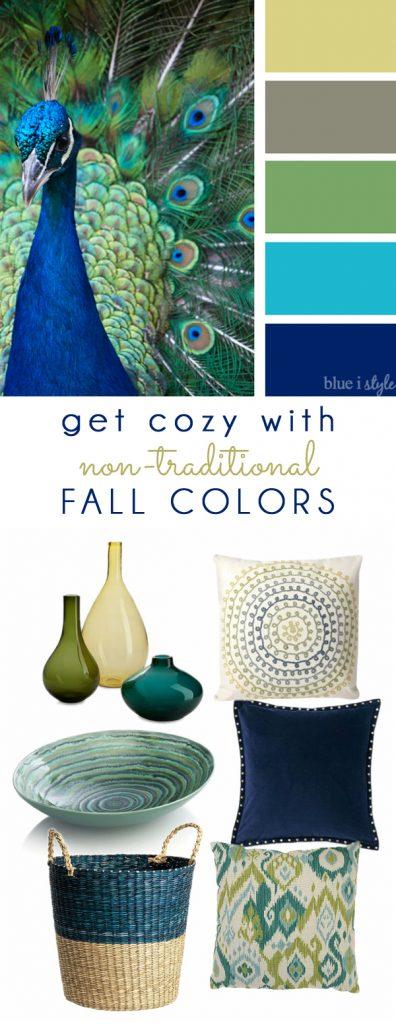 Fall Colors Mood Board  - Peacock