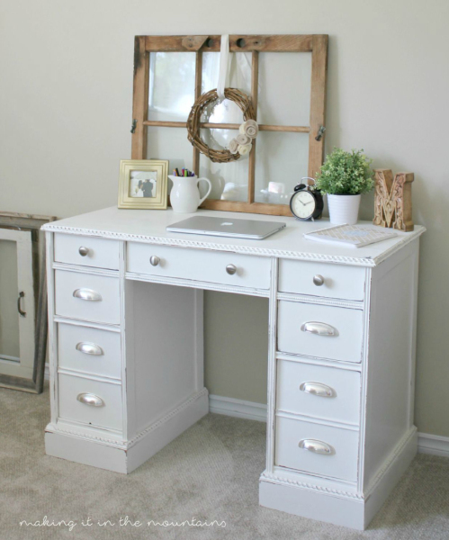 1-Vintage-Desk-Makeover Making it in the mountains
