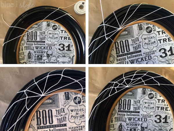 Halloween Picture Frame Cobweb
