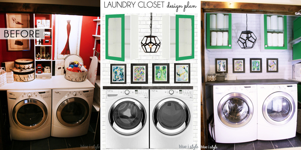 Laundry Closet Makeover Plans Before After