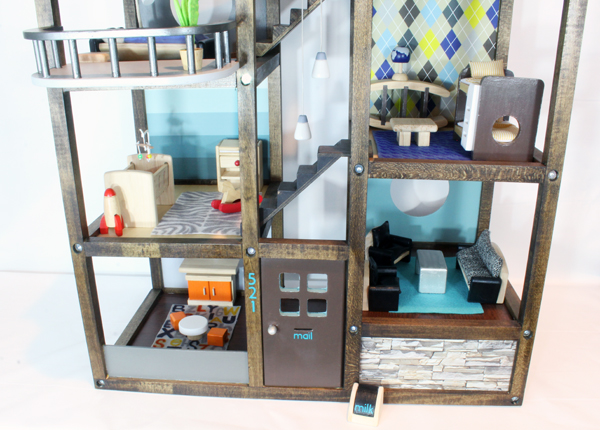 Customize a wood dollhouse