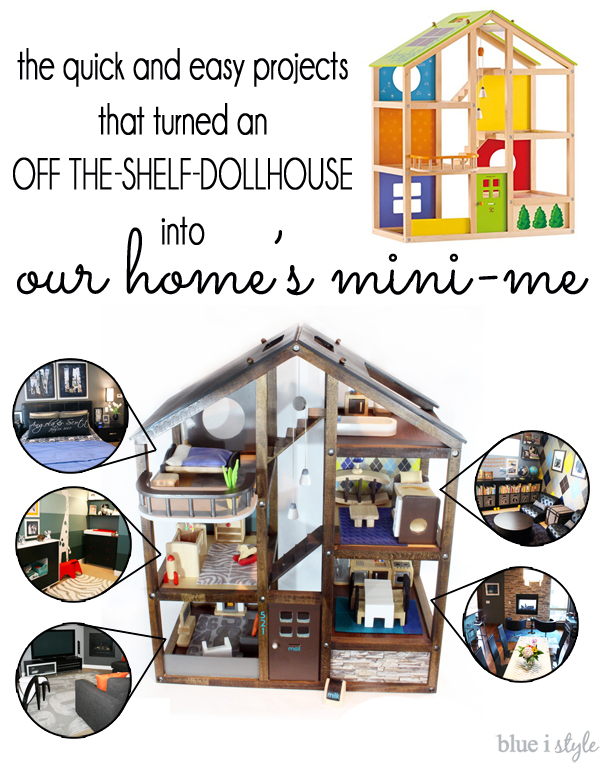 DIY updates to makeover an off-the-shelf dollhouse