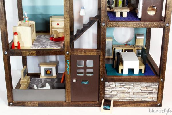 Customize an off-the-shelf wood dollhouse