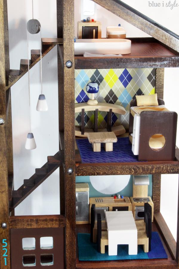 DIY wood dollhouse updates