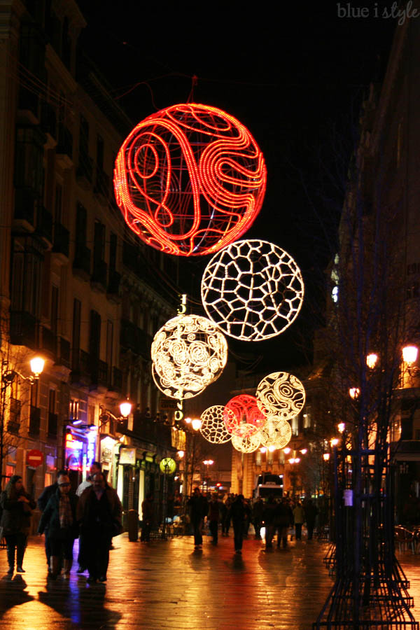 Christmas Lights in Madrid, Spain
