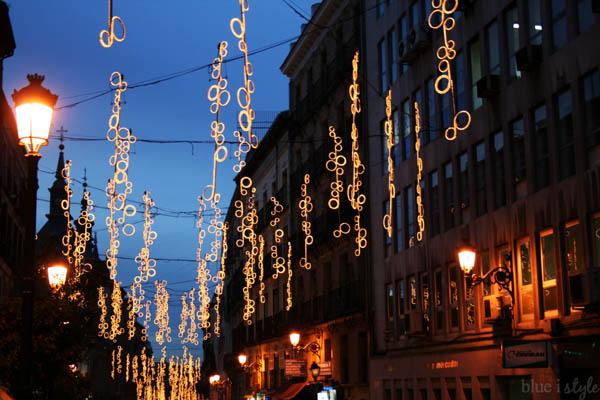 Christmas lights Madrid
