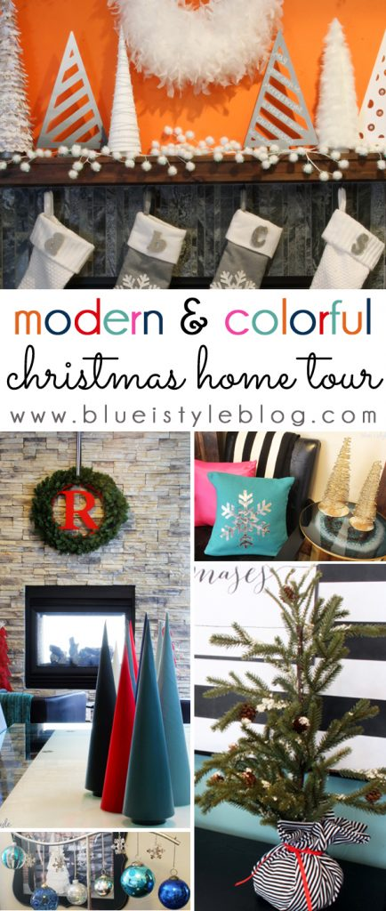 Modern Colorful Christmas Home Tour