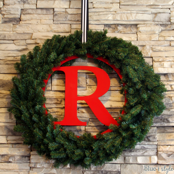 DIY Monogram Wreath for Christmas
