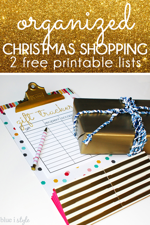Christmas Printable Shopping Lists