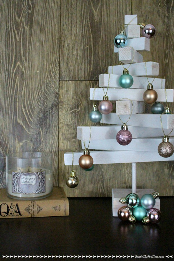 wooden dowel christmas tree