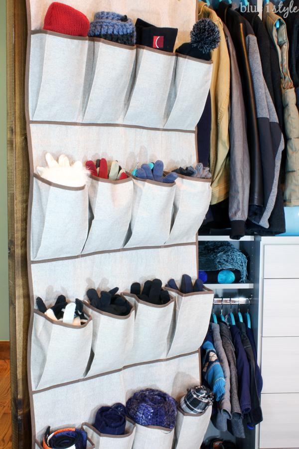 Shoe bag for coat closet storage