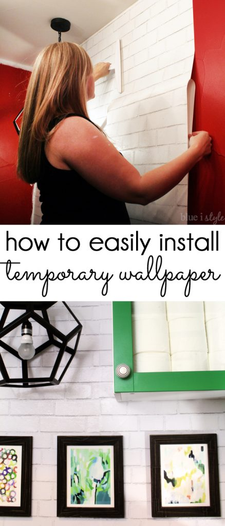 Tutorial for installing temporary, removable wallpaper