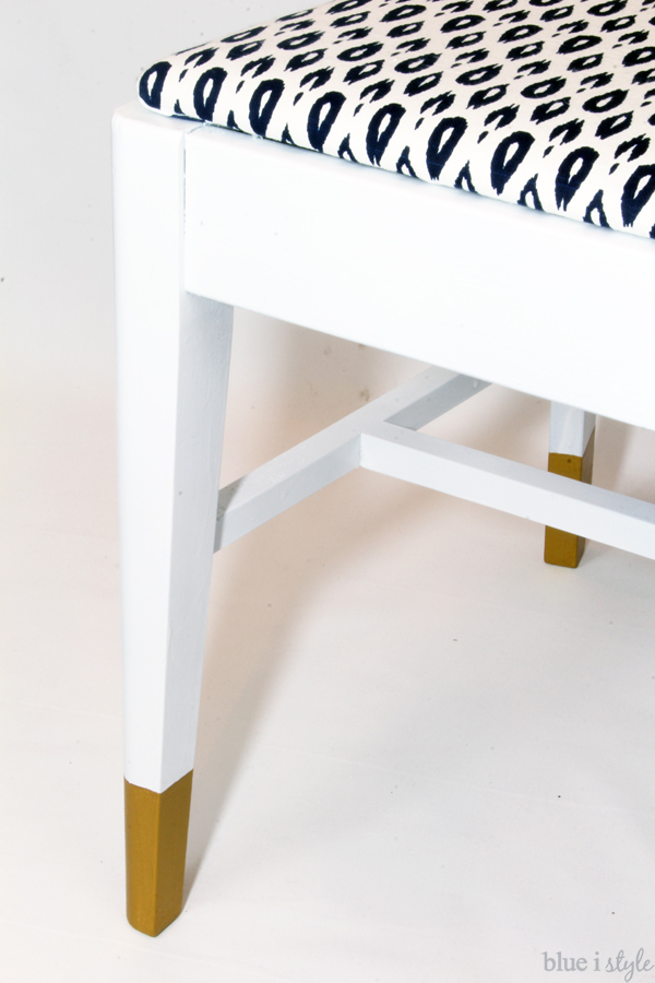 Gold dipped chair legs