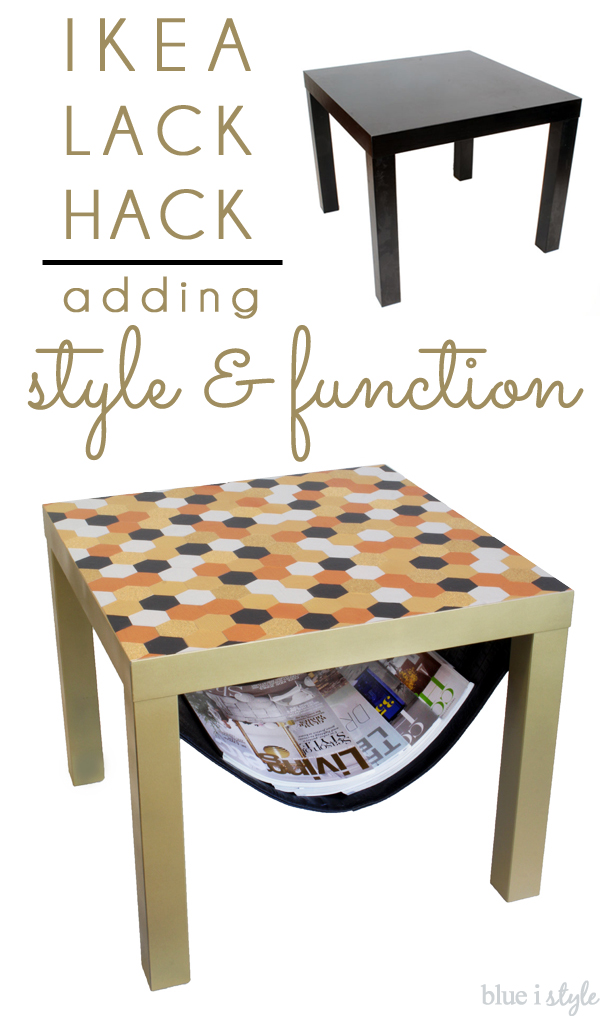 Diy With Style Glam Ikea Lack Hack With A Magazine Sling Blue I
