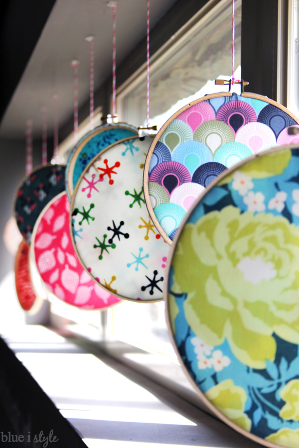 Embroidery Hoop Fabric Window Display