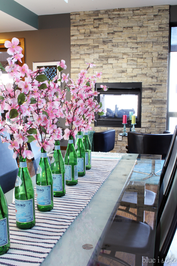 Spring Home Tour San Pellegrino Bottle Vases
