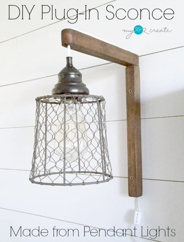 DIY plug in sconce pin, MyLove2Create