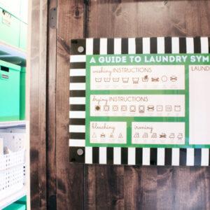 Printable Laundry Symbols Memo Board