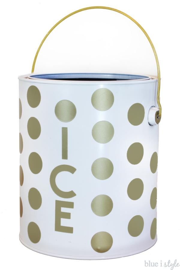 Kate Spade Inspired Gold Polka Dot Ice Bucket