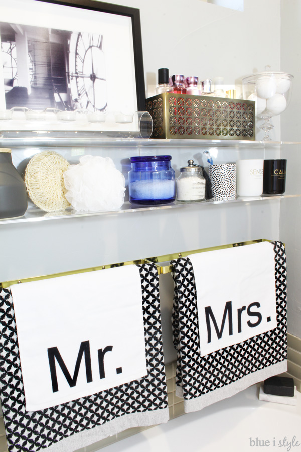 Graphic Glam Master Bathroom