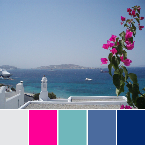 vacation photo color palette inspiration