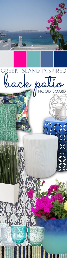 Greek Island Inspired Back Patio Color Palette Mood Board