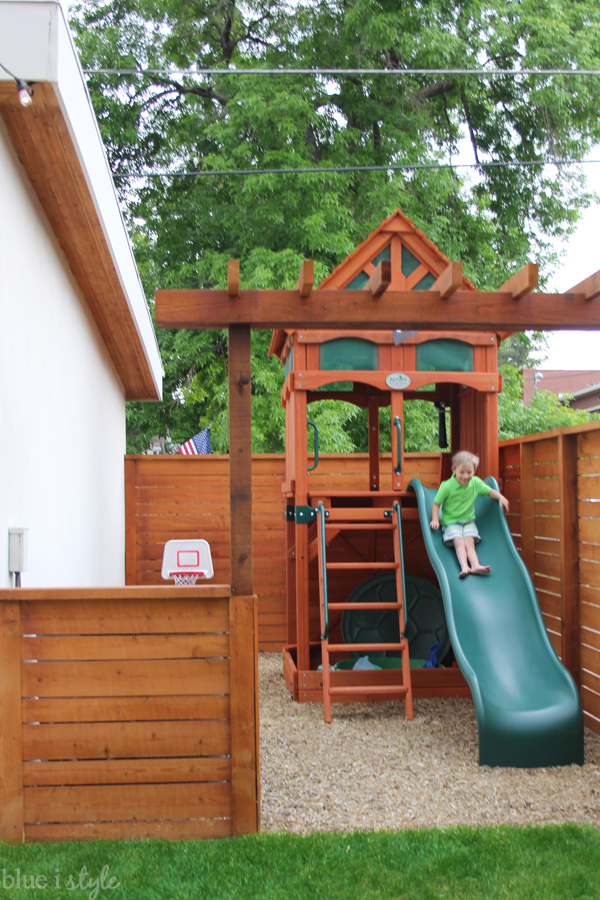 small backyard play area