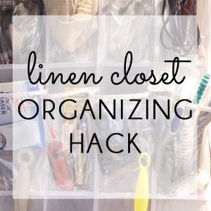Linen Closet Organizing Hack