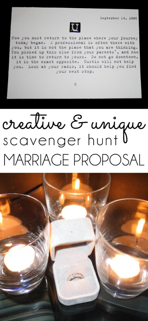Scavenger Hunt Proposal Story