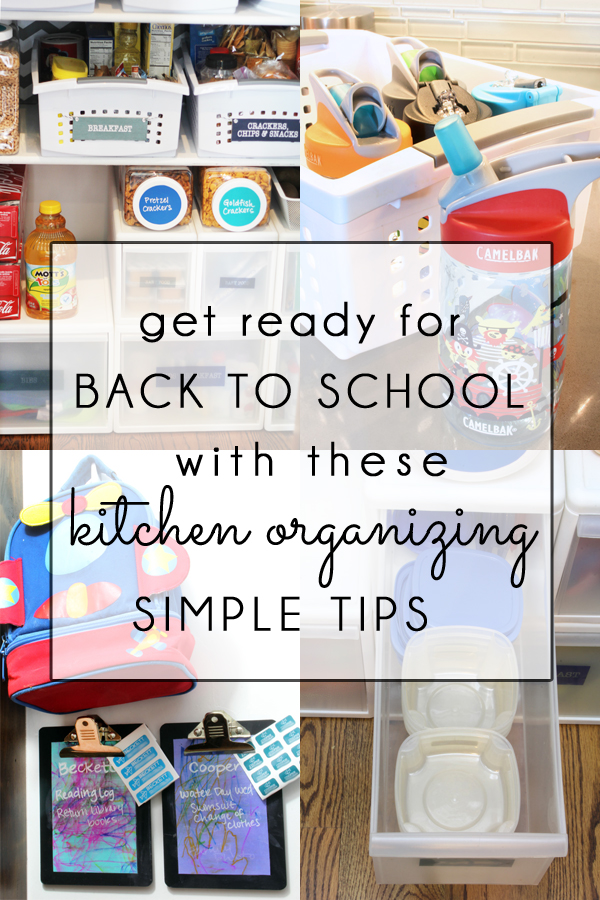 Back to School Kitchen Organizing Tips