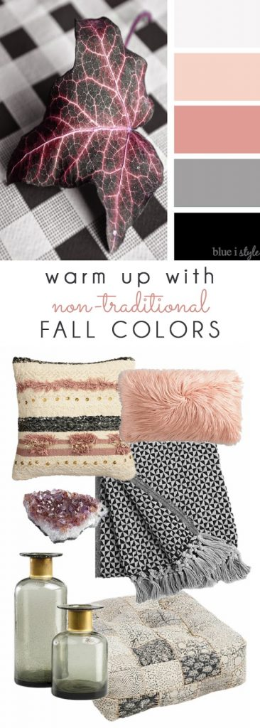 Pink fall decor