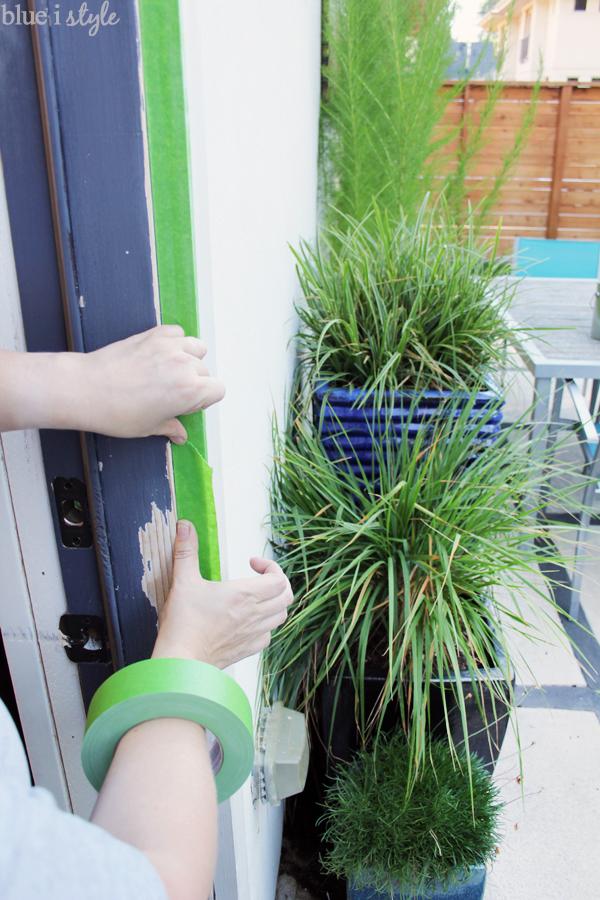 Paint touchup on door trim