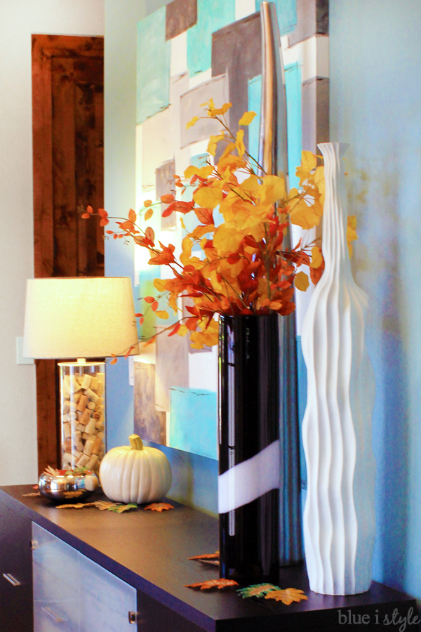Fall Leaves in Vase