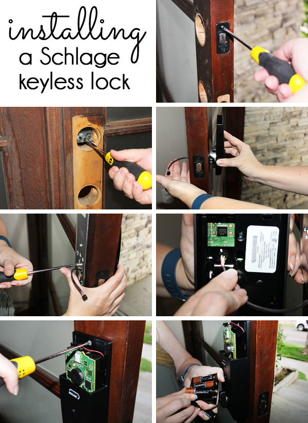 How to install a Schlage keyless lock