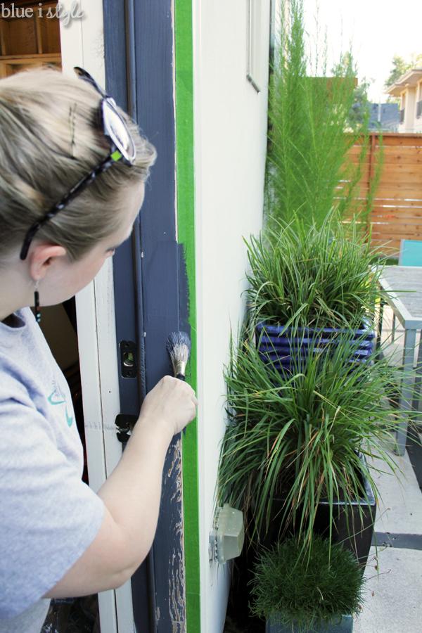 Painting dark door trim