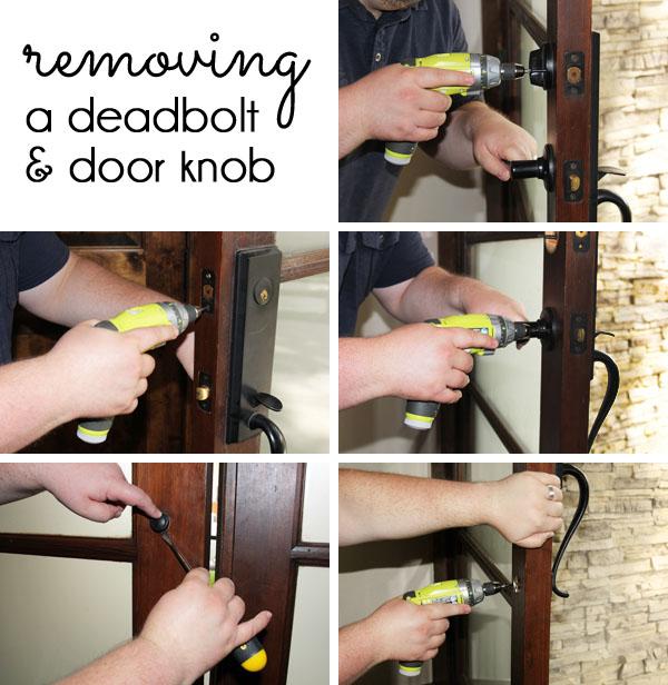 how to uninstall a deadbolt