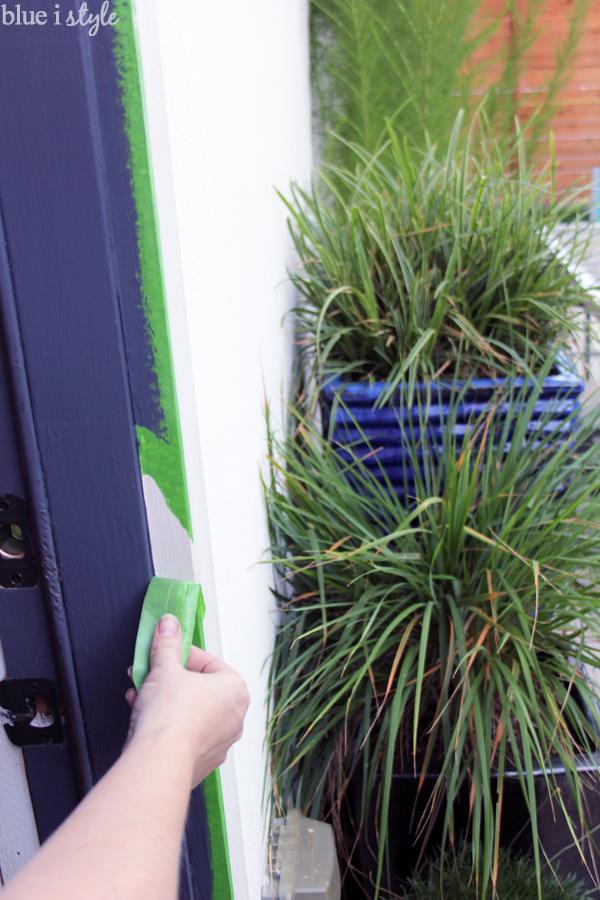 Removing painter's tape from door trim