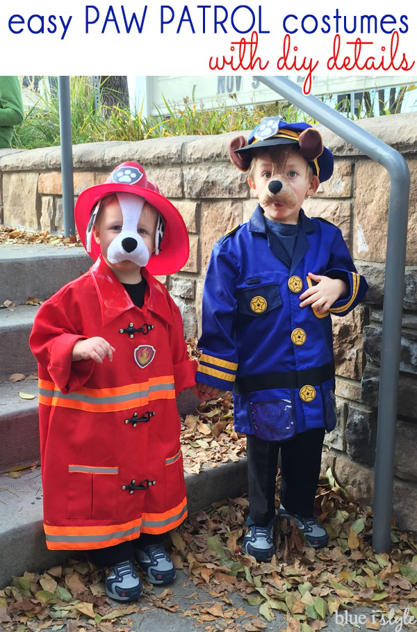 Easy Paw Patrol Halloween Costumes with DIY Details