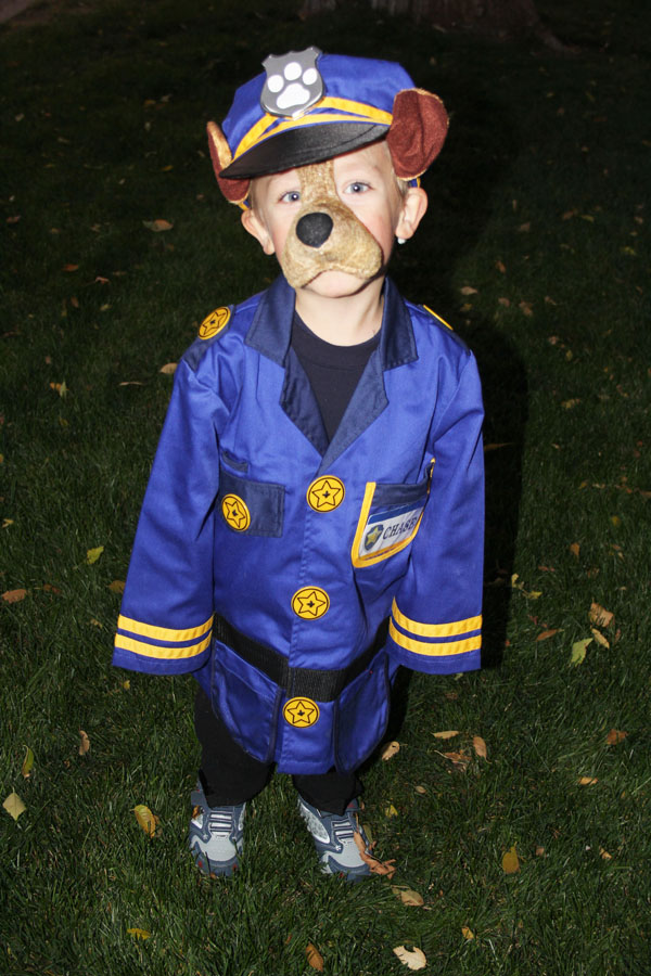 Easy Chase Paw Patrol Halloween Costume with DIY Details