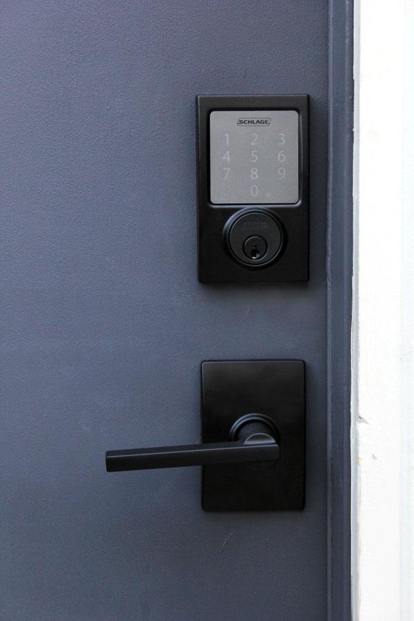 Keyless lock closeup