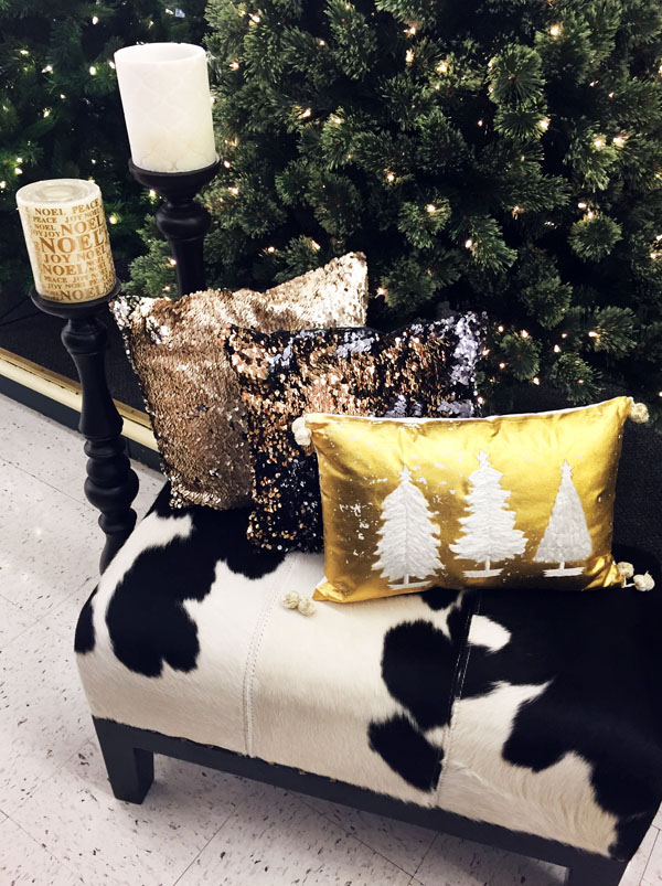 Modern Glam Holiday Pillows